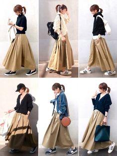 Fashion Tips Skirt Outfits Ulzzang Fashion, Hijab Fashion, Korean Fashion, Fashion Outfits, Womens Fashion, Cheap Fashion, Fashion Fashion, Fashion Tips, Moda Ulzzang
