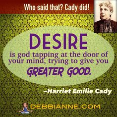 """Harriet Emilie Cady (1848-1941) Cady was a Homeopathic Physician (one of the first women!) in New York. Trained by the great Emma Curtis Hopkins, she furthered New Thought tenets with her famous work, """"Lessons in Truth.""""    