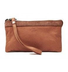 Maanii skind clutch brown 662960