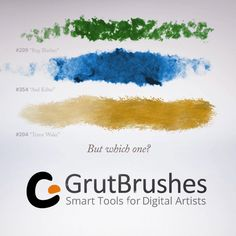 Three of the 350 Photoshop brushes for digital artists in the Art Brushes Complete Set Cool Photoshop, Photoshop Brushes, Artist Brush, Digital Illustration, Concept Art, Artists, Illustrator, Tutorials, Painting