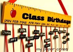 DIY Teacher Appreciation Gift: Class Birthday Board