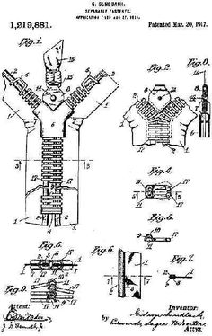 1917 patent. The First Use of a Zipper in Fashion?