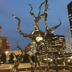 Have you checked out this neuron sculpture in #KendallSquare yet? #NerveCenter #Publicart #ChrisWilliams #Sculpture #CambMA by bostonmarriottcambridge December 14 2015 at 10:57AM