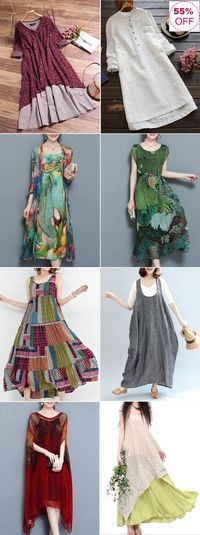 Newchic Online Shopping  Gracila Vintage Double Layered Dresses with Long  Sleeve and Floral Print bbca35652f9