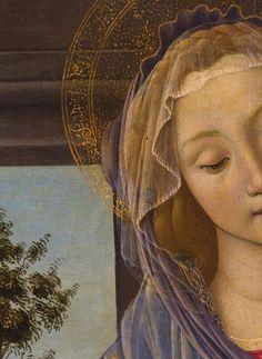 Madonna and Child with Pomegranate, Sandro Botticelli, Uffizi Gallery, Florence Italy Giorgio Vasari, Madonna Art, Madonna And Child, Italian Renaissance, Renaissance Art, Religious Icons, Religious Art, La Madone, Renaissance Paintings