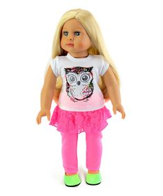 Take a look at this Glitter Owl Coral Outfit for 18'' Doll today!