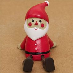 cute Santa Claus figure with outstretched legs from Japan