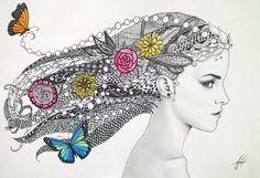 Zentangle Art by iMeganruby.deviantart.com on @DeviantArt