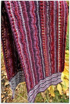 Koukuttu huivi /Tunisian crochet