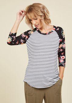 Swing, Pattern, Pattern Top in Black Stripes in M, #ModCloth