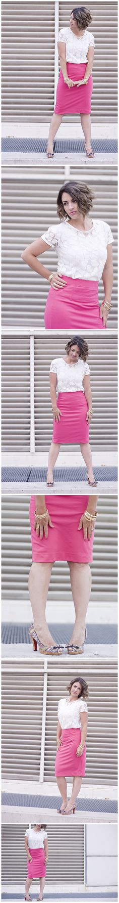 Pretty in Pink… Pencil Skirt | Fashion Friday mymommystyle.com