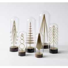 MODERN BRASS FOREST TREE SET. so cool!!!