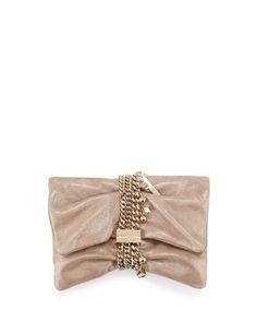 8972c7689dd Jimmy Choo Chandra Metallic Suede Clutch Bag