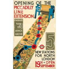 Opening of the Piccadilly line extension - Cecil Walter Bacon (1932)