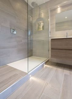 Is your home in need of a bathroom remodel? Give your bathroom design a boost with a little planning and our inspirational Most Popular Small Bathroom Remodel Ideas in 2018 Contemporary Bathrooms, Modern Bathroom Design, Bathroom Interior Design, Bath Design, Tile Design, Contemporary Interior, Modern Contemporary, Modern Baths, Contemporary Apartment