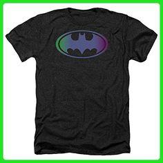 Batman Rainbow Logo DC Comics Superhero Adult Heather T-Shirt Tee - Superheroes shirts (*Amazon Partner-Link)