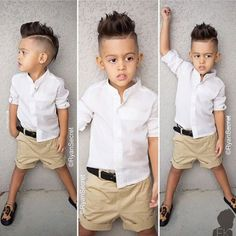 This Cool kids & boys mohawk haircut hairstyle ideas 54 image is part from 60 Awesome Cool Kids and Boys Mohawk Haircut Ideas gallery and article, click read it bellow to see high resolutions quality image and another awesome image ideas. Little Boy Outfits, Little Boy Fashion, Baby Boy Fashion, Fashion Kids, Cute Fashion, Outfits Niños, Kids Outfits, Boys Mohawk, Toddler Haircuts