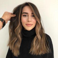 Sombre Hair, Brown Hair Balayage, Hair Color Balayage, Cool Blonde Hair, Brown Blonde Hair, Hair Color Streaks, Hair Highlights, Skunk Hair, Medium Hair Styles