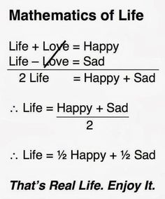 "This is actually incorrect.  In proper algebra you cannot cancel out the two ""love""s because they are being added/subtracted, not multiplied/divided.  This equation is invalid."