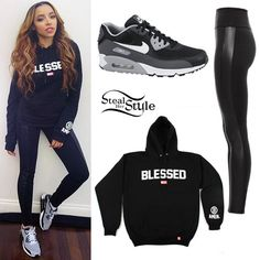 Tinashe: Blessed Sweatshirt Outfit- cute and comfy