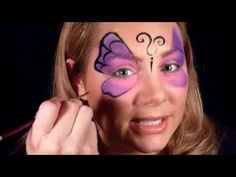 Butterfly Mask Face Painting Tutorial