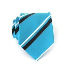 Mens Ties. Necktie Turquoise Black and White by TieObsessed