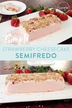 Blender Ice Cream, Ice Cream 4, Cream And Sugar, Strawberry Cheesecake, Strawberry Recipes, Whole Food Recipes, Cooking Recipes, Ice Cream Ingredients, Homemade Yogurt