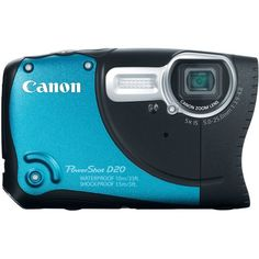 Canon PowerShot D20 12.1 MP CMOS Waterproof Digital Camera with 5x Image Stabilized Zoom 28mm Wide-Angle Lens a 3.0-Inch LCD and GPS Tracking (Blue) Canon,http://www.amazon.com/dp/B0075SUKIC/ref=cm_sw_r_pi_dp_eWf6sb0PSF0MNXGE