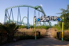 Abandoned Six Flags New Orleans- The Jester Roller Coaster
