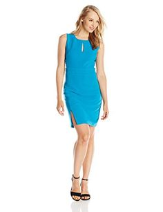 XOXO Juniors Sleeveless Criss Cross Side Sheath Dress Blue 1314 ** See this great product.(This is an Amazon affiliate link and I receive a commission for the sales)