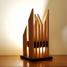 Home Lighting Design, Ceiling Design, Lamp Design, Cool Lighting, Wood Desk Lamp, Wooden Lamp, Mood Lamps, House Lamp, Wood Pendant Light
