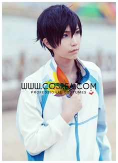 Costume Detail Free Haruka Nanase Swim Team Cosplay Costume Includes - Jacket This costume have complex details and custom fabric and will require extended production time. Please check with us before