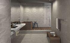 Sovereign Avorio Dune Decor Tiles from - Tons of Tiles Condo Bathroom, Bathroom Floor Tiles, Wall And Floor Tiles, Wall Tiles, Bathroom Remodeling, Remodeling Ideas, Contemporary Bathrooms, Modern Bathroom, Minimal Bathroom