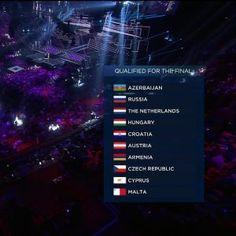 AJANKOHTAISTA MUSIIKKI  2. EUROVIISUT SEMIFINALI 12.5.2016... Eurovision Laulukilpailuiden 2016 Semifinaali 1:n finalistit   Seuraan&TYKKÄÄN. HYMY Yle.fi Eurovision.com