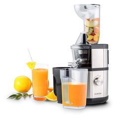 Fruitberry Slow Juicer 60 RPM Filler Tube cm Stainless Steel - The Klarstein Fruitberry slow juicer gets every drop of nutrition from your fruits and vegetables.Start your day with a glass f High Juice, Plastic Components, Bpa Frei, Kinds Of Fruits, Brush Cleaner, Unique Home Decor, Baking Ingredients, Popcorn Maker, Vegetables