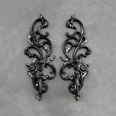 Vintage Syroco Sconces - Satin Black - Set Of Two - One Candle by TheCherryAttic on Etsy