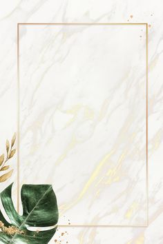 Rectangle gold frame with monstera leaf background vector | premium image by rawpixel.com / Adj