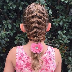 """Tried something different today, pull through braid with loops. Took time to think where each piece had to go.  Tag #plbpullthruloopbraid if you give it a go!   I've been informed that @batsheeba11 has also tried this and Jill @jehat has created a fantastic ponytail version of this! I love the fullness it creates in fine hair! #cghphotofeature #industriebeauty #melbournehairstylist #melbournehairdresser #braid #braids #hairinspiration #cutegirlshairstyles #instabraid #instahair #modernsalon"