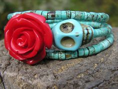 The Original Day of the Dead Bracelet 3 by donnaelizabethdesign, $27.99
