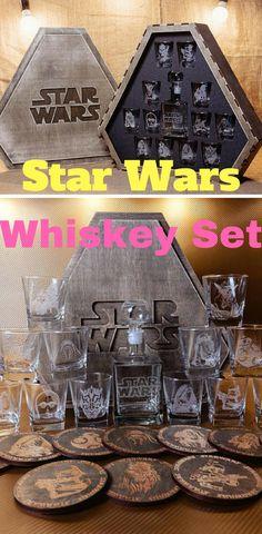 Star Wars Whiskey Decanter Sets - Star Wars Home #starwars #home #whiskey #wine