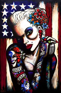 Angel Heart (Signed Giclee Limited Edition of 250) by Terry Bradley #tattoo #tattooart