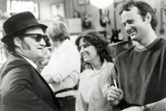 I don't think I've ever seen this picture. John Belushi & Bill Murray on the set of Blues Brothers, 1980. #SNL40