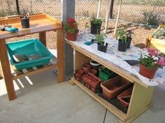 potting bench at Cuyamaca College at their Child Development Center