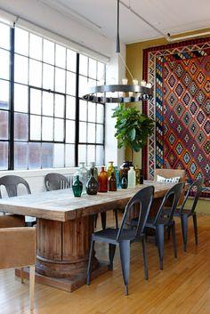 Dining room furniture cool Stühlerustikaler dining table great wall decoration