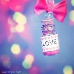 Cute Love love cute photography lights bottle mini