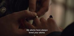 """love: """"""""My atoms have always loved your atoms."""" I Origins """" I Want You Love, Always Love You, Disney Instagram, Instagram Girls, I Origins, Advertising Quotes, Happy New Years Eve, Style Vintage, Vintage Yellow"""