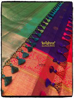 Saree Kuchu New Designs, Saree Tassels Designs, Blouse Designs Silk, Silk Saree Banarasi, Cotton Saree, Saree Floral, Hand Embroidery Design Patterns, Hand Work Blouse Design, Simple Sarees