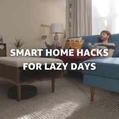Lazy Day Smart Home Hacks - up your lazy game with these simple smart home hacks with the Amazon Echo, right in time for National Lazy Day. #nationallazyday #lazyhacks #diysmarthome