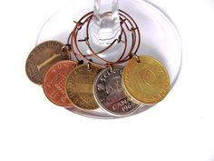 Wine glass charms - cons from around the world.