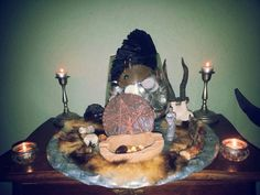Small altar on a plate.
